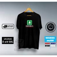 CONSINA Kaos Pria / Atasan Pria / Kaos Sablon Ready Oversize - Hitam, S