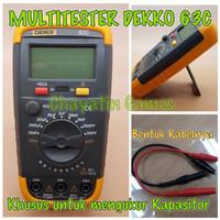 Multitester Avometer Tester Digital Merk DEKKO 63C Khusus Kapasitor