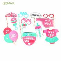 Qqmall 12pcs / Set Properti Photo Booth Tema Baby Shower Newborn
