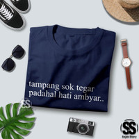 Kaos Premium Kata Lucu 3686 Tshirt Tulisan HATI Baju Kata Distro Tumbl