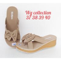 Model Wanita Sandal Wedges Trendy Kickers Stylish
