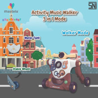 LEARN - PLAY MASTELA PUSH ACTIVITY AND NEW BABY 3IN1 WALKER MODE WALKE