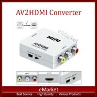 AV2HDMI Converter AV / RCA to HDMI / Mini Adapter HD Video 1080P