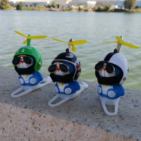 Boneka Doraemon LED dengan baling-baling tali kaca untuk sepeda dan m