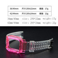 RedyJT New Color Mixing Transparent Waterproof Strap for Apple Watc