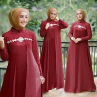 GamIs Maxi / Baju Dress Wanita Muslim Elena Moscrepe kombi Brukat HQ