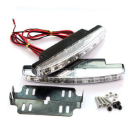 Lampu Led Drl 8 Titik Fog Lamp + Bracket Mobil Datsun Go Plus