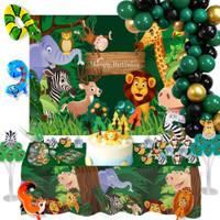 Balon Motif Hewan Safari Untuk Dekorasi Pesta Ulang Tahun Anak Laki-L
