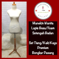 Patung Baju Manekin Lapis Foam/Busa Pakai Kaki Berkualitas
