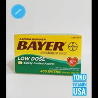 TERBARU Bayer Aspirin Regimen Low Dose 81 mg 400 Tablets BERKUALITAS