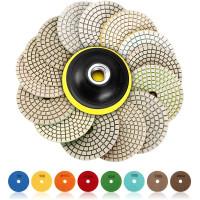 15pcs Pad Disk Roda Gerinda Diamond 4 Untuk Batu Granit Marmer Beton
