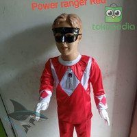 FASHION ANAK ANAK (UNISEX) KOSTUM BAJU ANAK CU30P1751 POWER RANGER RED