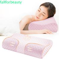 Fallforbeauty Bantal Tidur Ortopedi Penyangga Leher Bahan Latex Untuk