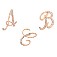 Fashion Enh Letter Broo Personality Diamond As shown Broos Clothes