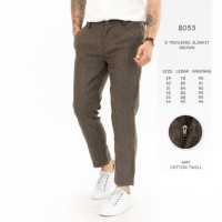 RDS - CELANA CHINO BROWN SLIMFIT CELANA CHINO PRIA TROUSERS ANKLE PANT