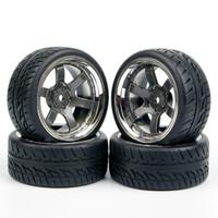 R08 Rc On Road Tires, Ban Rc Velg 1:10 Black Chrome