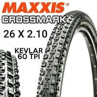 Ban Luar Maxxis Crossmark 26 x 2.10 Kevlar Folding bead Tire MTB bkn