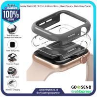 Ringke Apple Watch SE / 6 / 5 / 4 44mm Slim Clear + Dark Gray Softcase