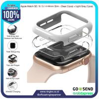 Ringke Apple Watch SE / 6 - 4 44mm Slim Clear + Light Gray Softcase