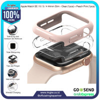 Ringke Apple Watch SE / 6 - 4 44mm Slim Clear + Peach Pink Softcase