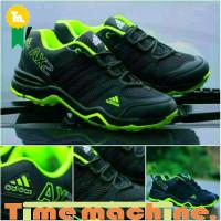 Sepatu Adidas AX2 Hitam Lis Stabilo