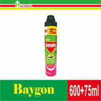 Grosir Baigon Anti Nyamuk, Lalat & Kecoa 600 + 75 ml Flower Garden