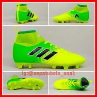 Sepatu Sepak Bola Anak Adidas Ace Hijau Kuning Kids Size 35-38 Boot
