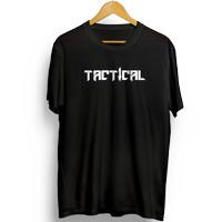 Baju Kaos Distro Outdoor Pria Tactical - Putih, M