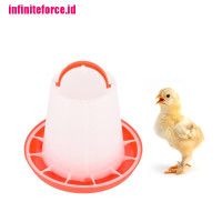 1 x 1.5kg red plastic feeder baby chicken chicks hen poultry feed NA10