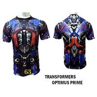 Baju Optimus Prime Transformer Baju Superhero Kartun Movie 3D #FPS-63