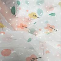 Kain Sifon Motif Print Bunga Panjang 1m Lebar 1.5m Untuk Aksesori NA10