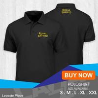 polo shirt royal enfiled / kaos kerah royal enfield premium