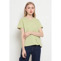 The Executive V-Neck Basic T-Shirt 5-TSKKEY121F036 Lime