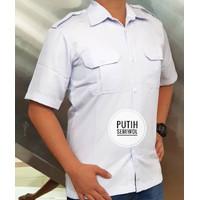 Putih Baju Kemeja PDH Pria Putih Putih Baju PNS Dinas Panjang Pendek P