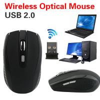 Aksesoris Komputer: Mouse Wireless Optical Finger 2.4G USB Rechar NA10