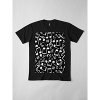 Kaos Cool Musical Notes Pattern Best For All Music 4398 T-Shirt