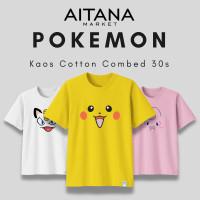 GREEN Baju Kaos Pokemon Face Untuk Bayi Anak Remaja Dewasa Big Size