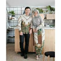 Couple Baju Batik Pasangan Keluarga Sarimbit Pesta Brukat Terbaru Set