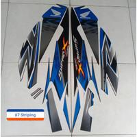 Stiker Motor Honda Supra X R 125 2010 silver biru
