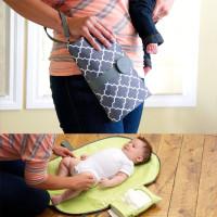 Baby Nappy Diaper Changing Change Clutch Mat Foldable Pad Handbag NA10