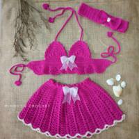 Kostum Bayi Bikini Rajut Renang Bayi Bayi Baju Bikini