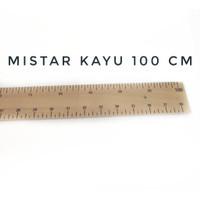 POPULER PENGGARIS KAYU MISTAR KAYU 100 CM MURAH 1 METER PENGGARI
