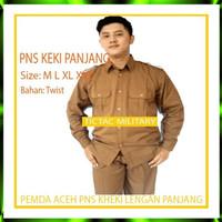 Pemda Pria Aceh Lengan Panjang Stelan Baju PNS Kheki Keki Pemda Diskon