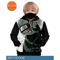 Jaket Hoodie Naruto Kakashi Hatake Jaket Sweater Anak 3D #JD-134 - No.1 (1-2 thn)