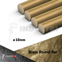AS kuningan diameter 10mm | ROD Brass Round Bar per 1 cm