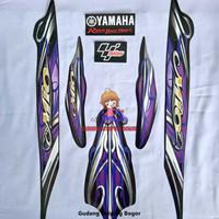 Striping List Bodi & Stiker Body Mio Sporty 2010 Hitam