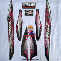 Striping List Bodi & Stiker Body Mio Sporty 2011 Hitam