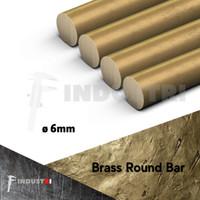 AS kuningan diameter 6mm | ROD Brass Round Bar per 50 cm