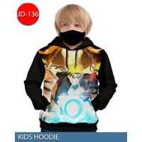 Jaket Hoodie Naruto Rasengan Jaket Sweater Anak 3D #JD-136 - No.1 (1-2 thn)
