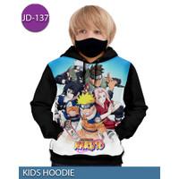 Jaket Hoodie Naruto Squad Jaket Sweater Anak 3D #JD-137 - No.1 (1-2 thn)